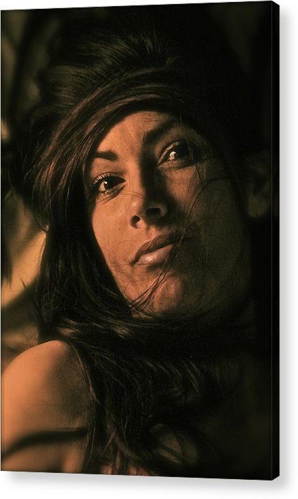 Streched Canvases Acrylic Print featuring the photograph Had To Go Crazy To Love You by Andrzej Goszcz