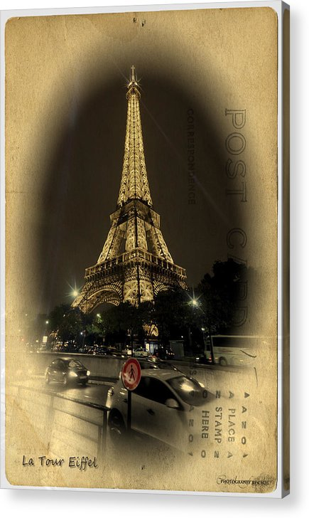 Acrylic Print featuring the photograph La Tour Eiffel by Cecil Fuselier