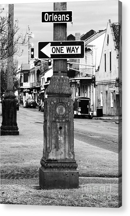 Orleans One Way Acrylic Print featuring the photograph Orleans One Way by John Rizzuto
