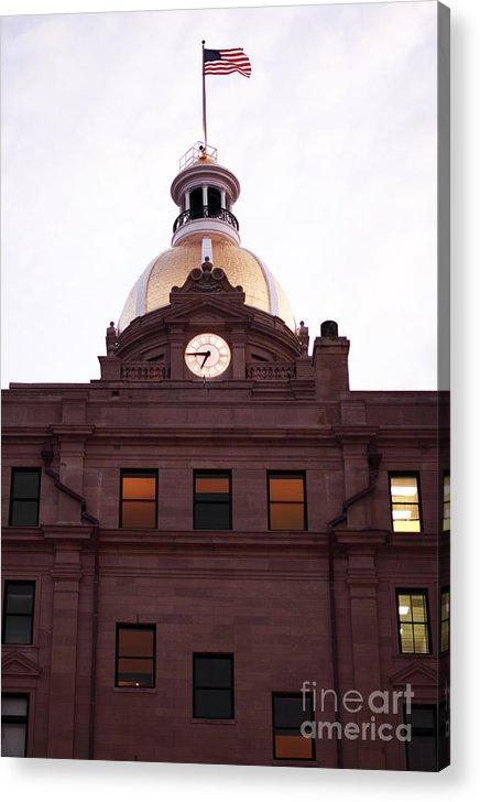 Savannah City Hall Acrylic Print featuring the photograph Savannah City Hall by John Rizzuto