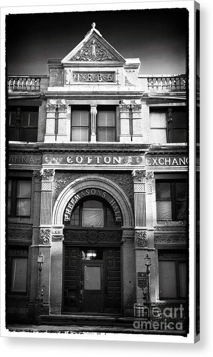 Savannah Cotton Exchange Acrylic Print featuring the photograph Savannah Cotton Exchange by John Rizzuto