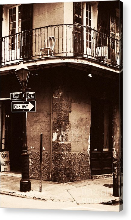 Vintage French Quarter Acrylic Print featuring the photograph Vintage French Quarter by John Rizzuto
