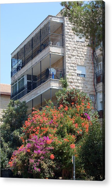 Israel Acrylic Print featuring the photograph A Home In Rehavia 5 by Susan Heller