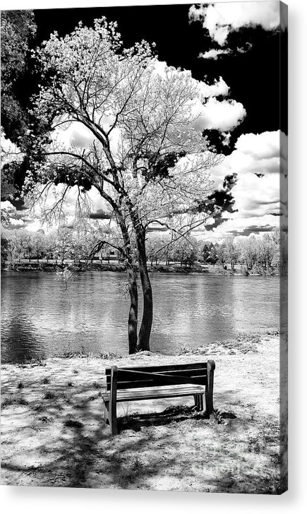 Along The River Acrylic Print featuring the photograph Along The River At Washington Crossing In New Jersey by John Rizzuto