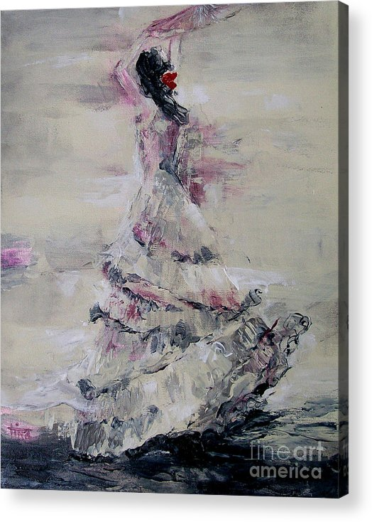 Figurative Acrylic Print featuring the painting Ole by Tina Siddiqui