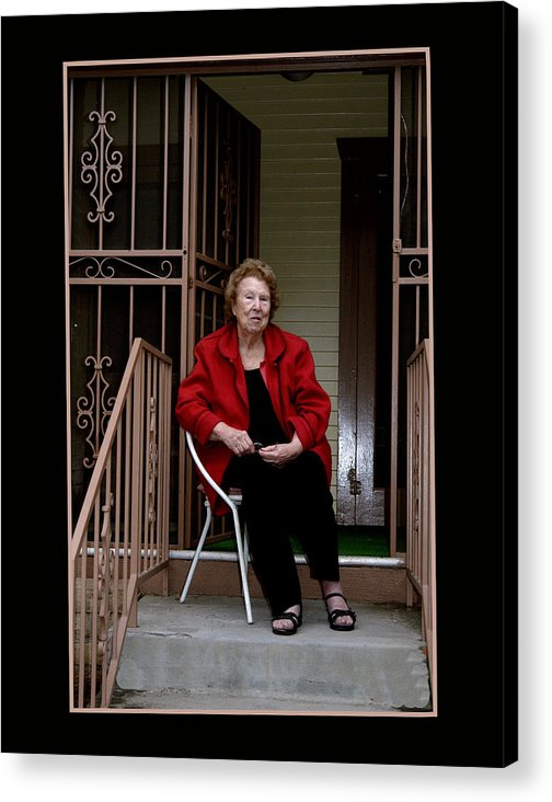 People Acrylic Print featuring the photograph PorchWatcher by Richard Gordon