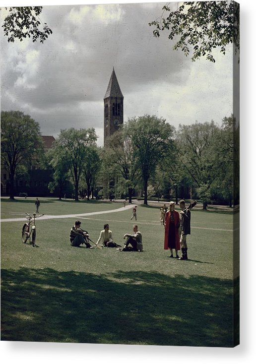 Shadow Acrylic Print featuring the photograph Cornell Campus by Slim Aarons