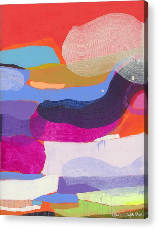 Abstract Acrylic Print featuring the painting Party Boat by Claire Desjardins