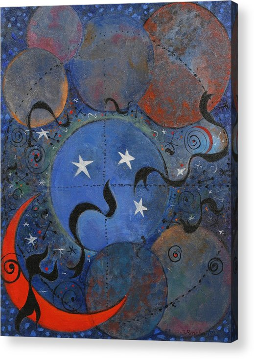Stars Acrylic Print featuring the painting Celestial Magic by Susan Rinehart