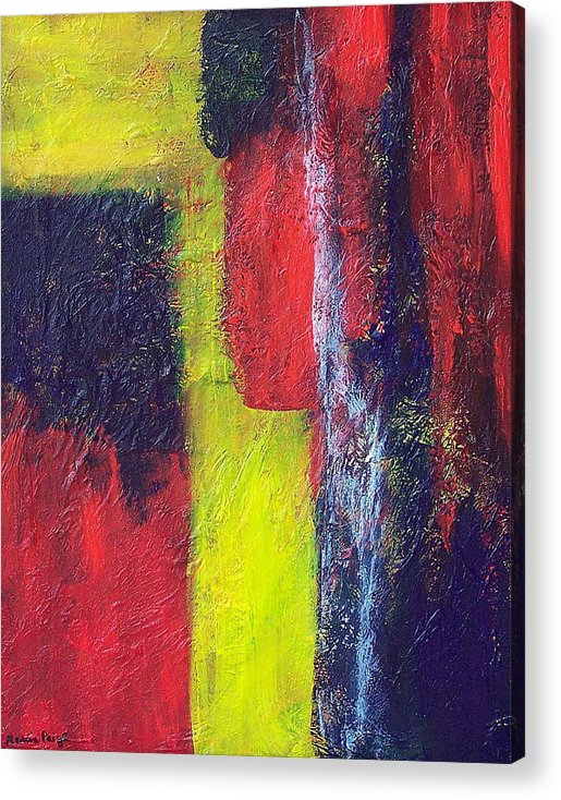 Abstract Acrylic Print featuring the painting Moods by Marcia Paige