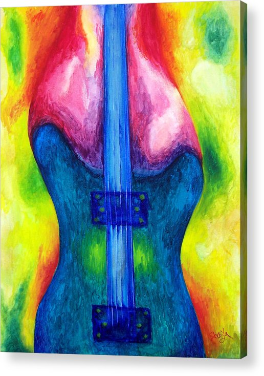 Vivid Contemporary Abstract Acrylic Print featuring the painting Strung Out by Shasta Miller