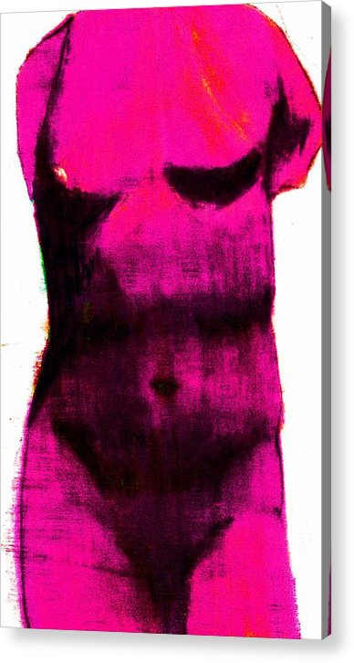 Pink Acrylic Print featuring the drawing Pink Aphrodite by Jennifer Ott