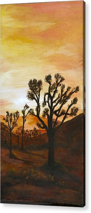 Sunset Acrylic Print featuring the painting Desert Sunset II by Merle Blair