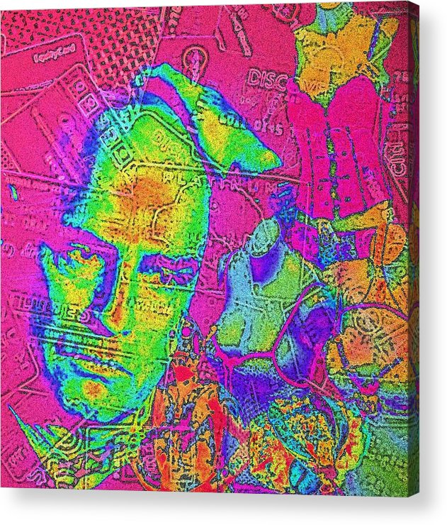 Money Acrylic Print featuring the digital art Big Brother by Jennifer Ott
