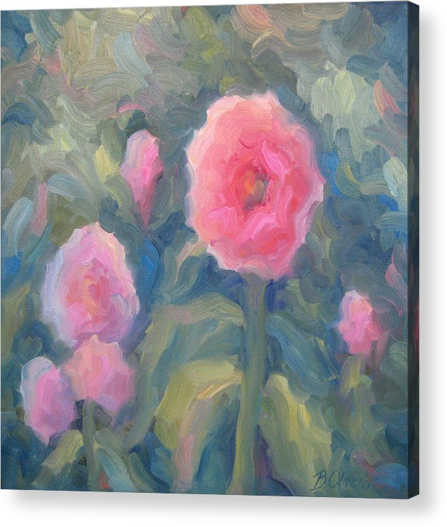 Pink Acrylic Print featuring the painting Pink Makes Everything Better by Bunny Oliver
