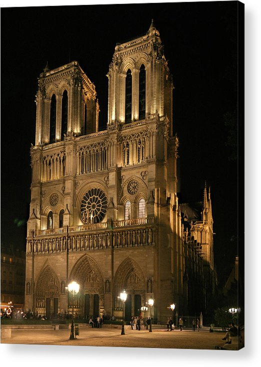 Notre Dam Photographs Acrylic Print featuring the photograph Cathedral Of Notre Dam by Gary Lobdell