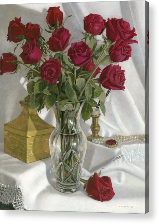 Still Acrylic Print featuring the painting A Fine Romance by Duane Wolford