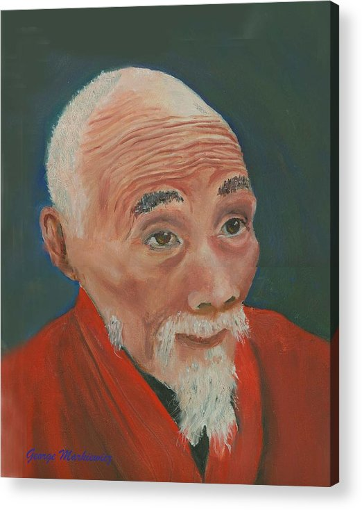 Portrait Acrylic Print featuring the print Ancient Wisdom by George Markiewicz