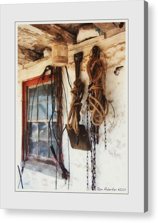 Art Acrylic Print featuring the photograph Barn Window by Ron Alderfer