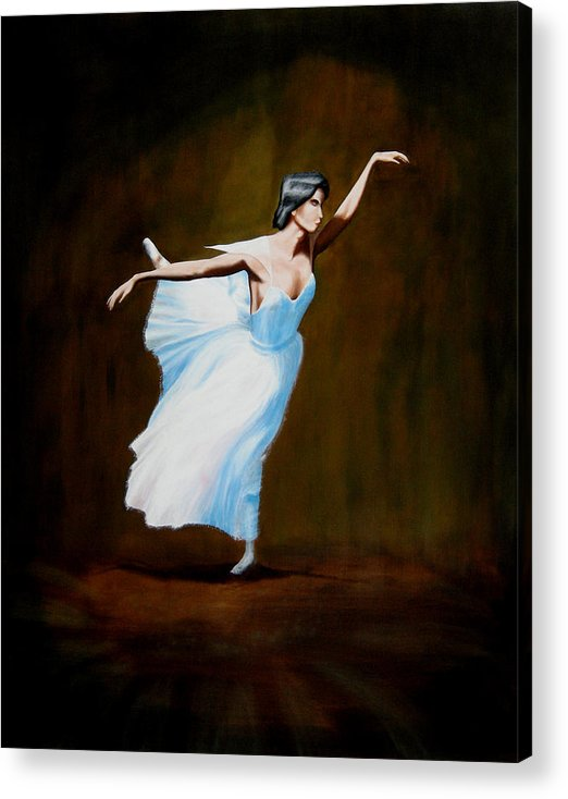 Ballerina Acrylic Print featuring the painting Dancing With Dasies by Ivan Rijhoff