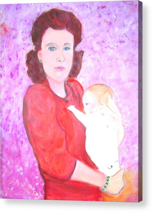 Mother Acrylic Print featuring the painting Mother And Child by Michela Akers