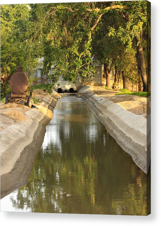 Agriculture Acrylic Print featuring the photograph Naglee Burk Irrigation District Pump San Joaquin County Ca by Troy Montemayor