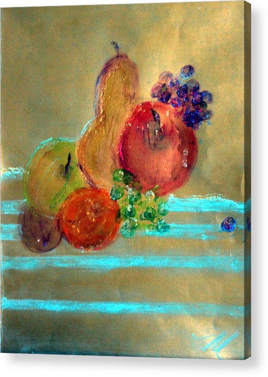 Fruit Acrylic Print featuring the painting Summer Fruit by Michela Akers