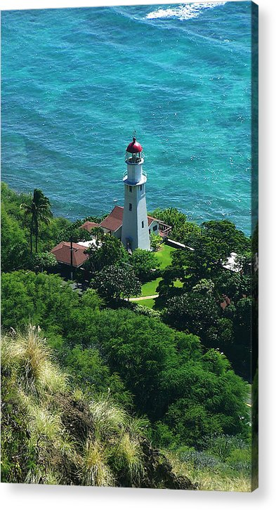Oahu Acrylic Print featuring the photograph Oahu Lighthouse by Michael Lewis