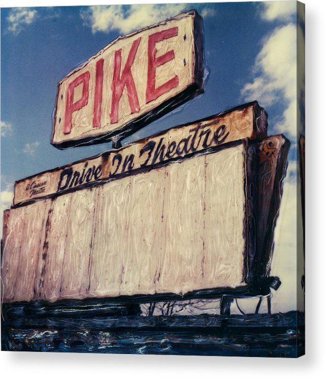 Polaroid Acrylic Print featuring the photograph Pike Drive-in by Steven Godfrey