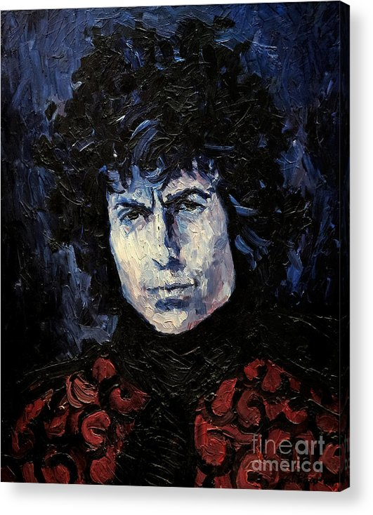 Dylan Acrylic Print featuring the painting Bob Dylan 1967 by Lutz Baar