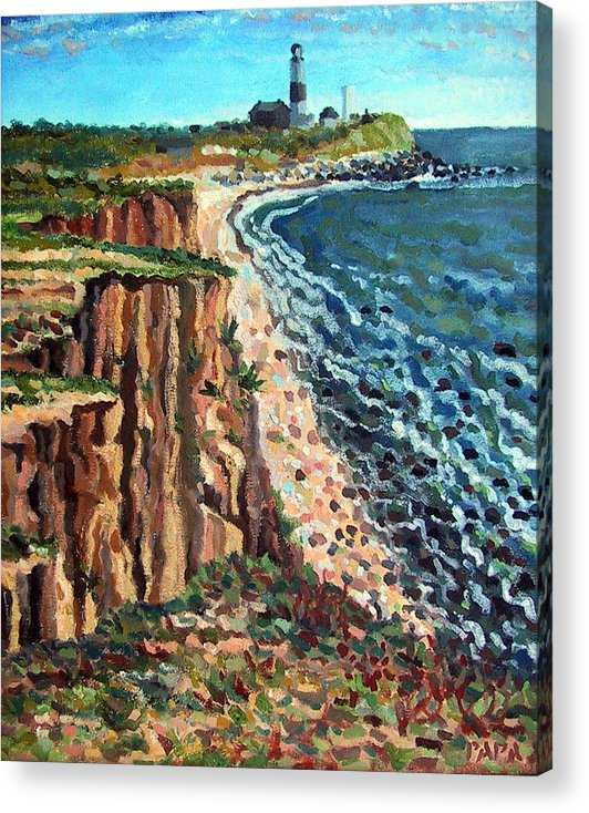 Dunes Acrylic Print featuring the painting Dunes At Montauk by Ralph Papa