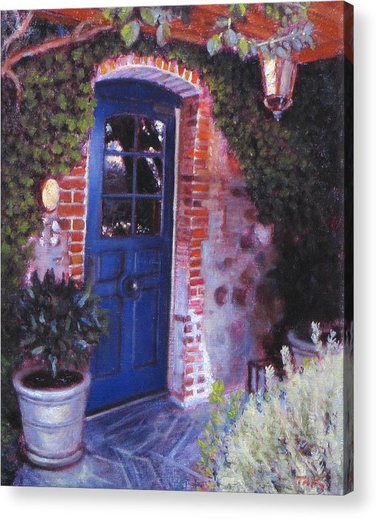 Landscape Acrylic Print featuring the painting Fine French Restraunt French Laundry With Rosemary by Takayuki Harada