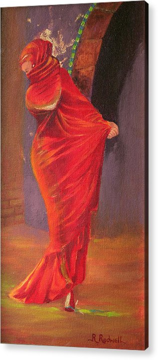 Dancer Acrylic Print featuring the painting Arabesque by Roxanne Rodwell