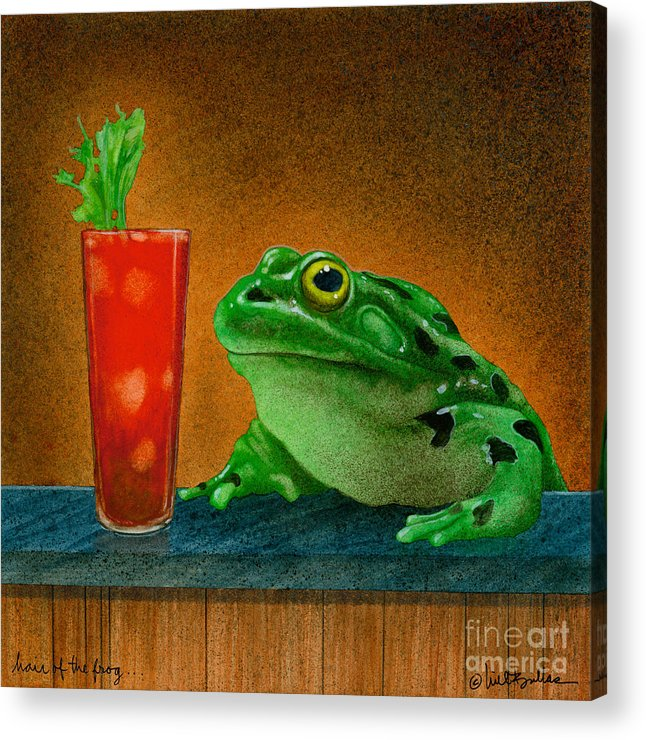 Will Bullas Acrylic Print featuring the painting Hair Of The Frog... by Will Bullas