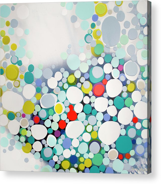 Abstract Acrylic Print featuring the painting Cross The Line by Claire Desjardins
