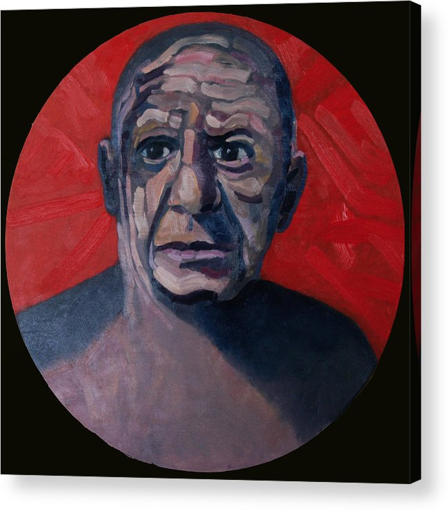 Pablo Acrylic Print featuring the painting Picasso The Artist Icon by Ralph Papa
