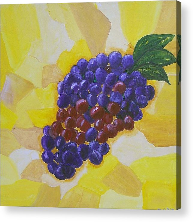 Grapes Acrylic Print featuring the painting Ripe For The Picking by Marcia Paige