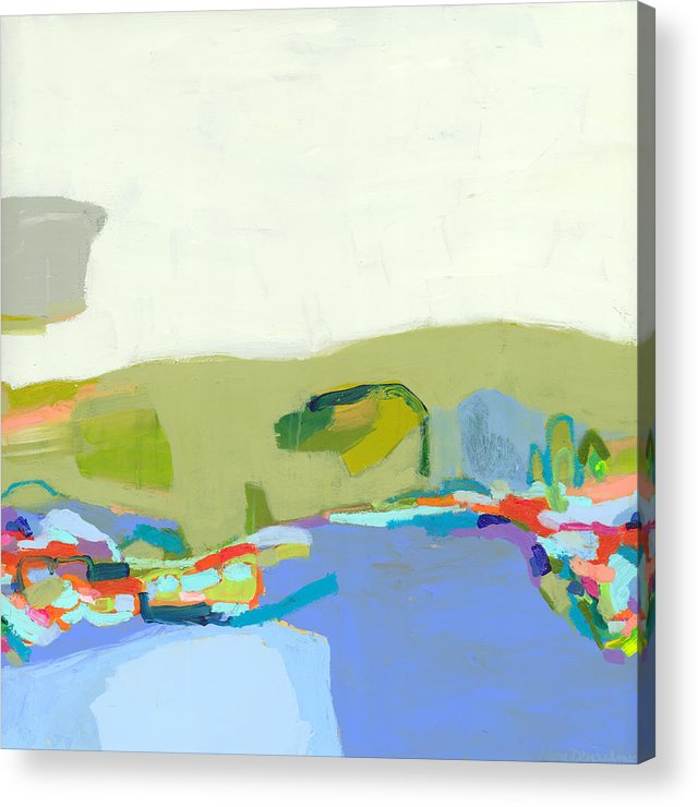 Abstract Acrylic Print featuring the painting Another Place by Claire Desjardins