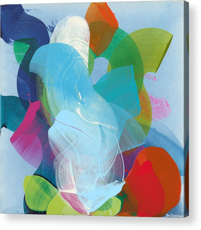 Abstract Acrylic Print featuring the painting Away A While by Claire Desjardins