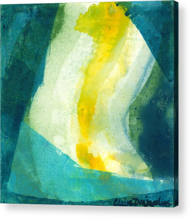 Abstract Acrylic Print featuring the painting Back by Claire Desjardins