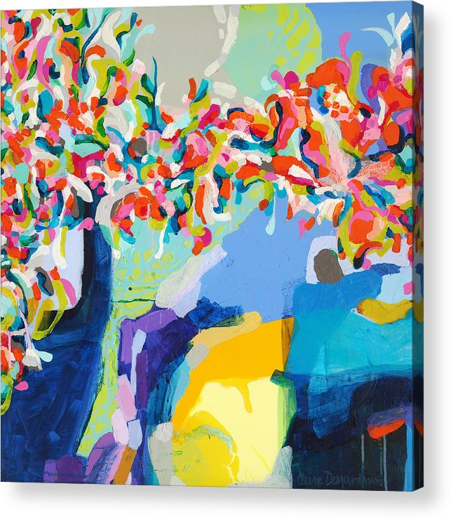 Abstract Acrylic Print featuring the painting My Vanity by Claire Desjardins