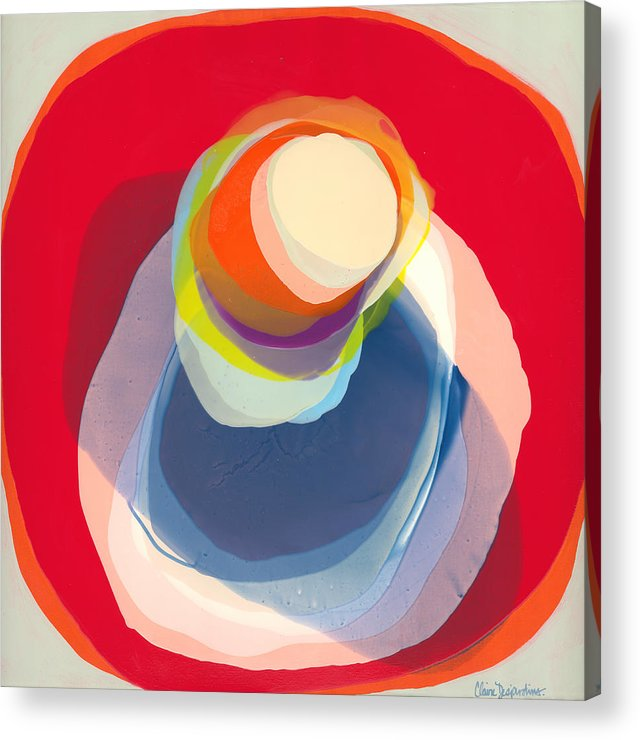 Abstract Acrylic Print featuring the painting Reflective by Claire Desjardins