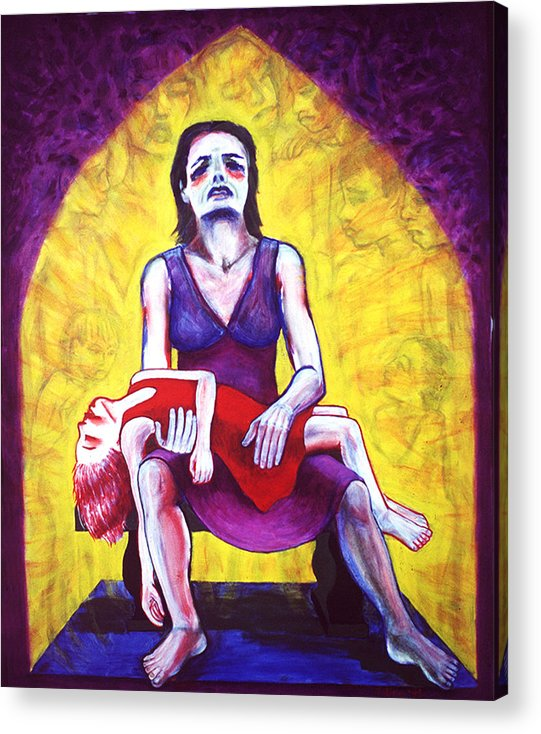 Sorrow Acrylic Print featuring the painting Pieta by Terrie Rockwell