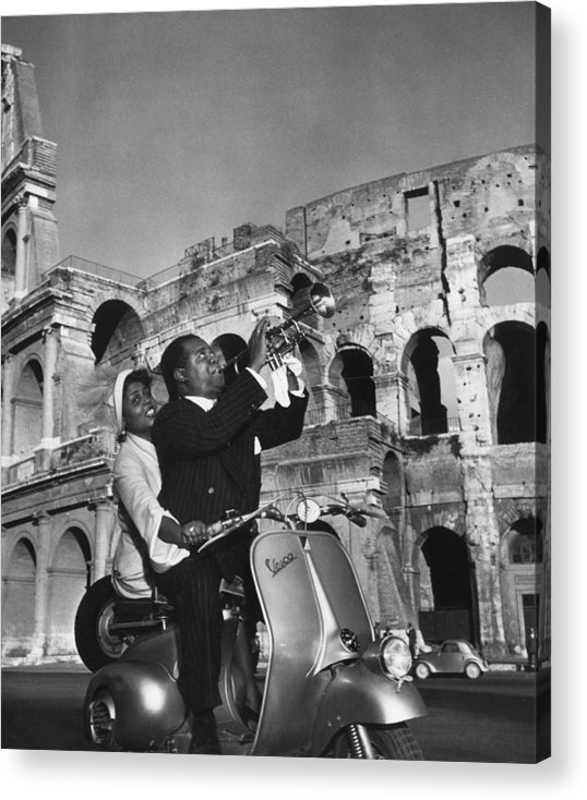 Singer Acrylic Print featuring the photograph Jazz Scooter by Slim Aarons