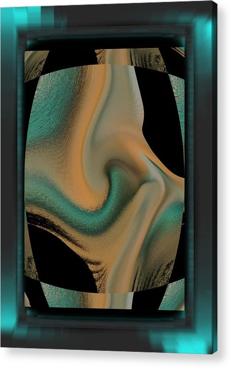 Digital Paint Acrylic Print featuring the digital art Tiger by Ines Garay-Colomba