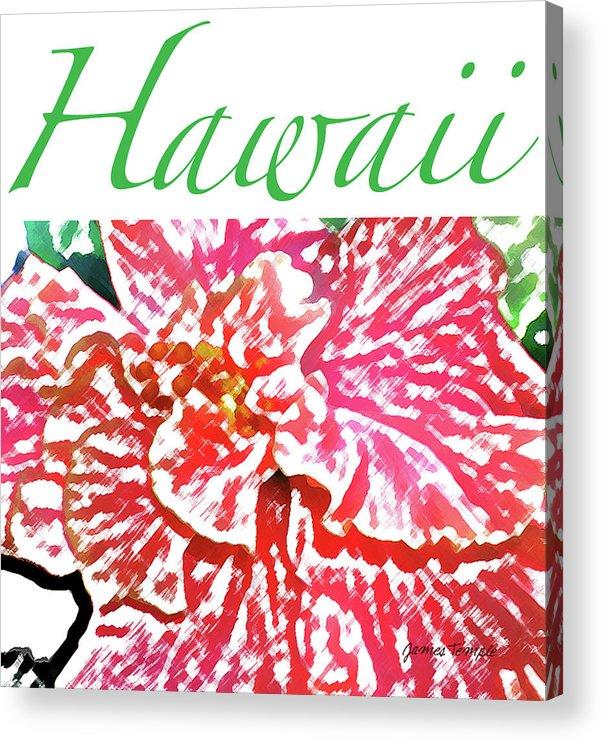 Hawaii Acrylic Print featuring the digital art Hawaii Blush by James Temple