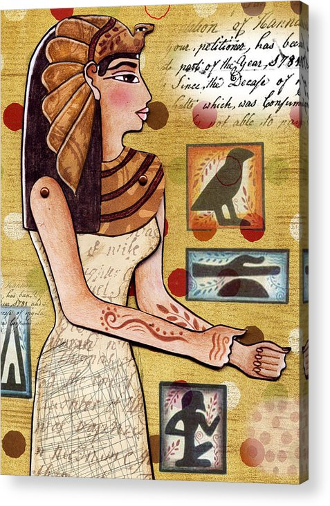 Egyptian Acrylic Print featuring the digital art Ancient Brands by Elaine Jackson