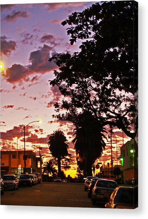 Libra.love.freedom Acrylic Print featuring the photograph Neighborhood Silhouette by D Wash