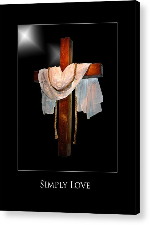 Acrylic Print featuring the photograph Simply Love by Richard Gordon
