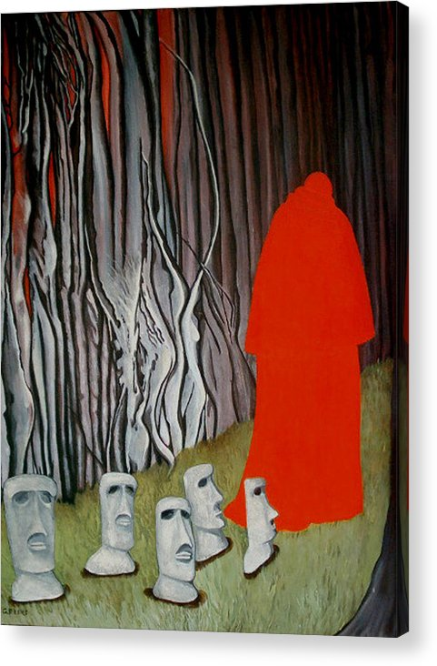 Surreal Acrylic Print featuring the painting The Cardinal by Georgette Backs